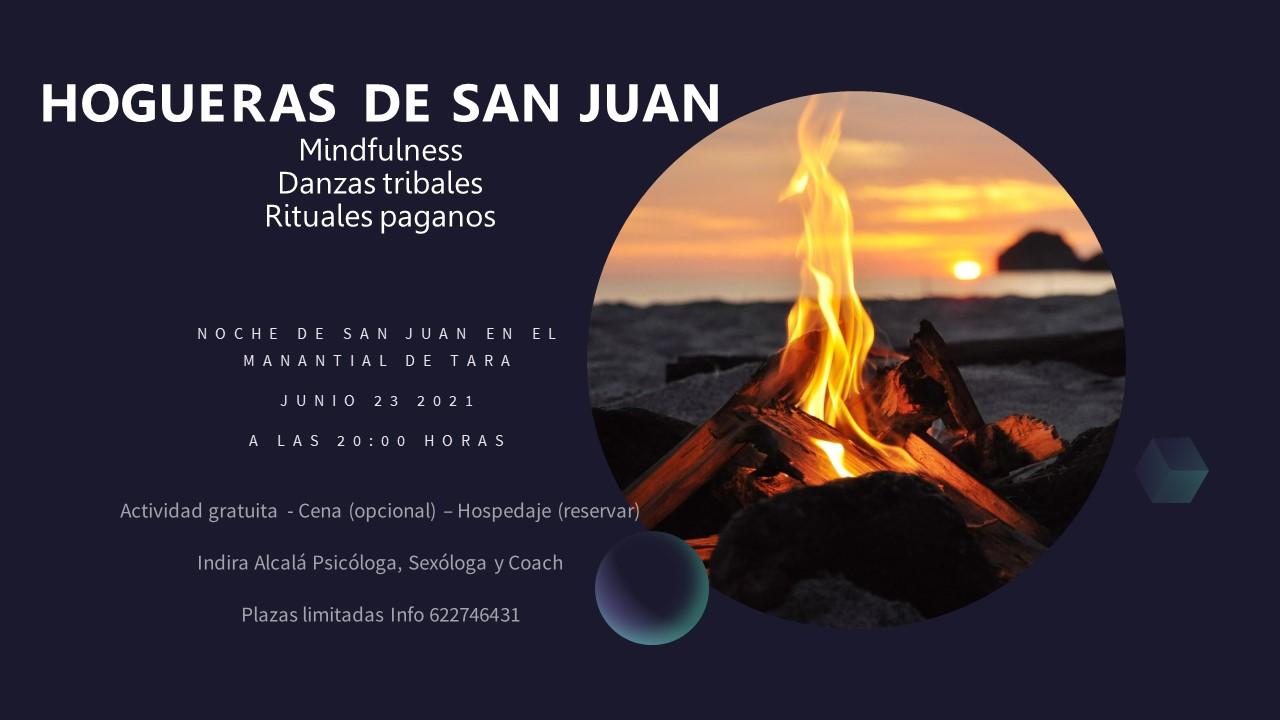 Hoguera de San Juan con Indira