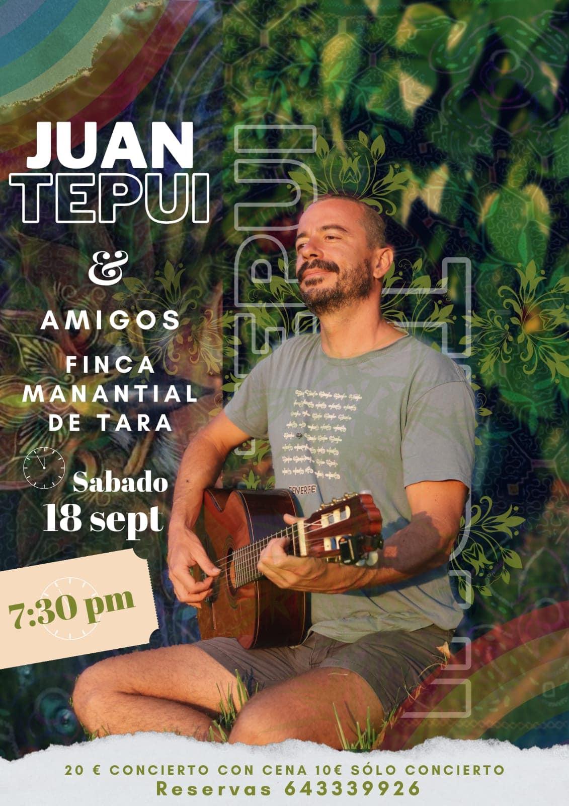 Cantos a la Conciencia con Juan Tepui + cena vegetariana